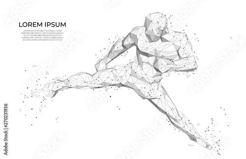 Obraz na płótnie Abstract athlete Abstract athlete boxer