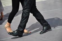Ein Paar Tanzt Tango, Im Detai...