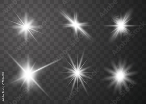 Fotografía  Set of glow light effect