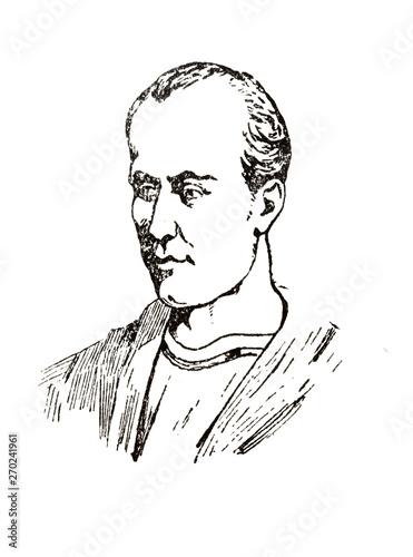 Fotografie, Obraz  Portrait of Martial Roman poet