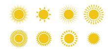 Sun Icon Set.