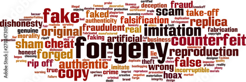 Fotografija Forgery word cloud