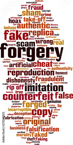 Valokuva Forgery word cloud