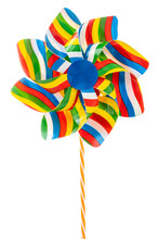 Colorful Pinwheel Isolated