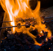 Seekh Kebab In Then Street Of Kolkata