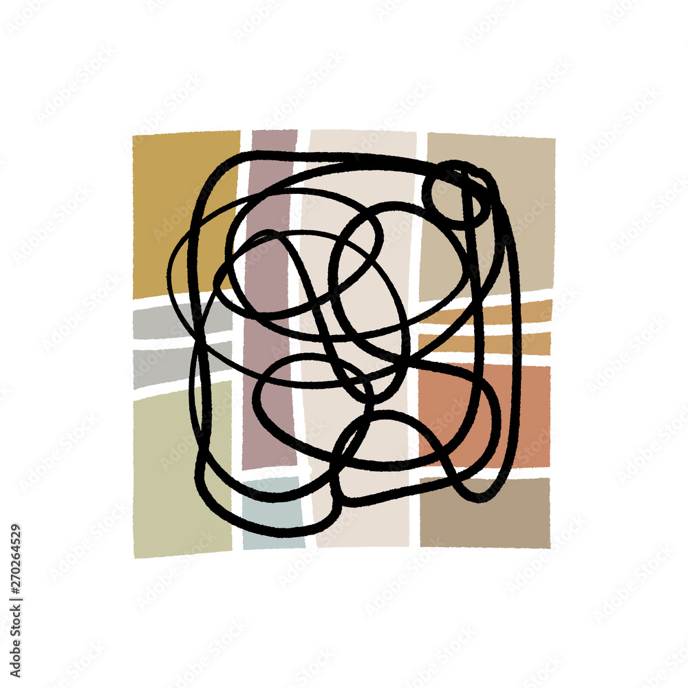 Abstraction. Modern contemporary art abstract shapes. Vector
