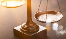 Law Scales Justics Scale Weighing Old Lawyer Litigation