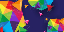 Abstract Background Modern And Colorful
