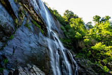 The 404 Foot Hickory Nut Falls In Chimney Rock State Park, North Carolina.