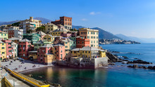 Boccadasse, Old Maritime Village In Genoa