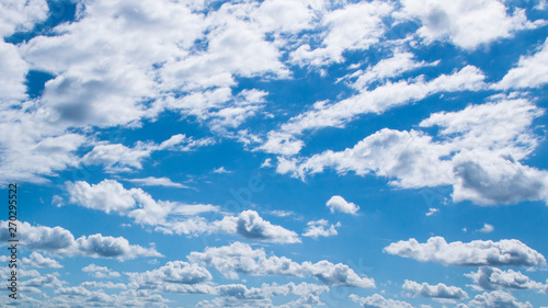 Clouds and blue sky pattern, Garda lake, Italy Canvas Print
