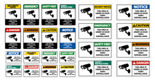 This Area Is Under 24 Hour Video Surveillance Sign Isolate On White Background,Vector Illustration