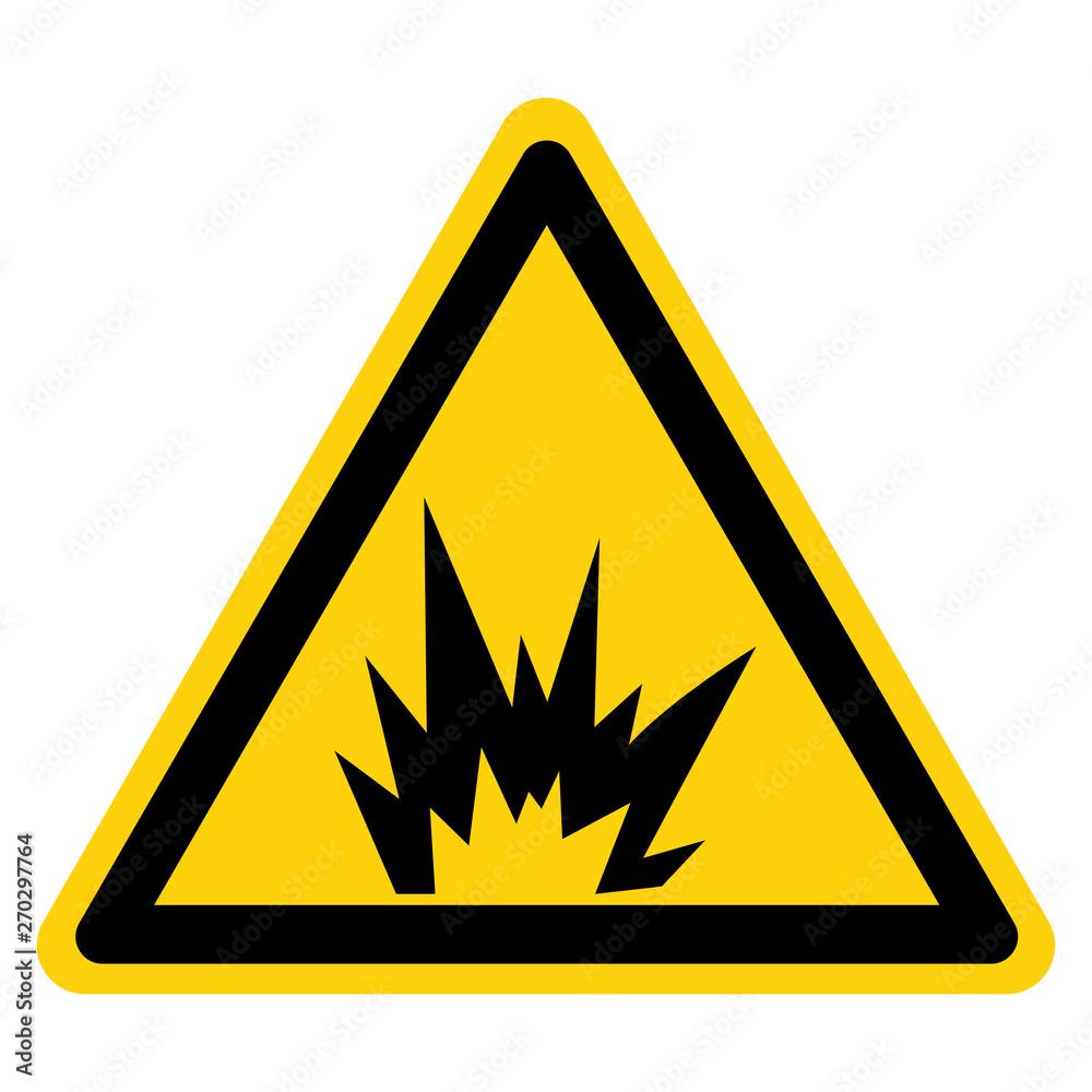 Fototapeta Arc Flash Hazard Symbol Sign Isolate On White Background,Vector Illustration