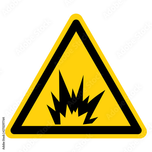 Obraz Arc Flash Hazard Symbol Sign Isolate On White Background,Vector Illustration - fototapety do salonu