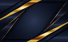 Elegant Navy Blue Background With Overlap Layer