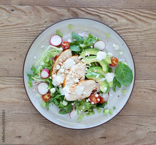 fototapeta na szkło Chicken Salad with Avocado