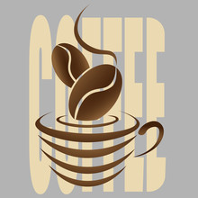 Abstract Coffee Logo With A Co...