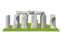 Stonehenge England Landmark Design Vector Illustration