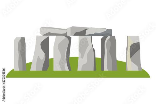 Fototapeta Stonehenge england landmark design vector illustration
