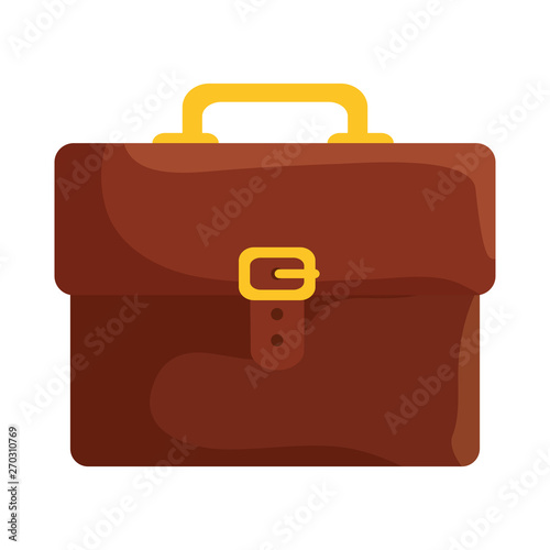 portfolio briefcase handle isolated icon Canvas Print