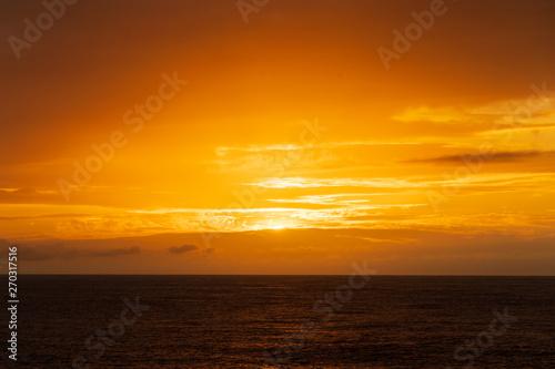 Poster Mer coucher du soleil 小笠原丸から見る夕日