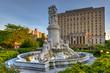 Leinwanddruck Bild - Heinrich Heine Fountain - New York City
