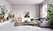 Leinwandbild Motiv modern  living interior design.