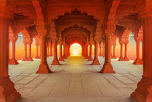 Interiors Of Red Fort In Delh...