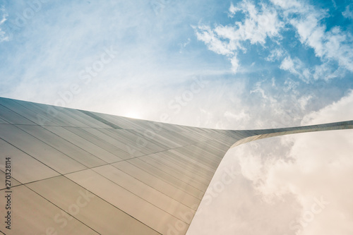 Fotografie, Obraz  St Louis Arch Abstract view with sky