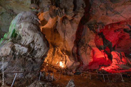 Dark Underground Pha-Veang Cave, Lamphun ,thailand