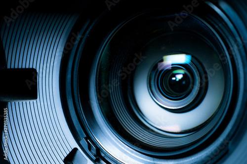Fotografía  Camera and lens Zoom, close-up