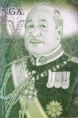George Tupou V a portrait from Tongan money Canvas