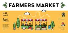 Vector Farmers Market Event Po...