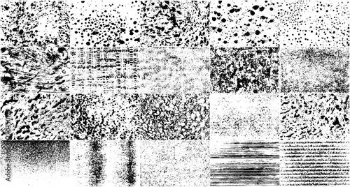Vector Set Grunge Design Elements Tablou Canvas