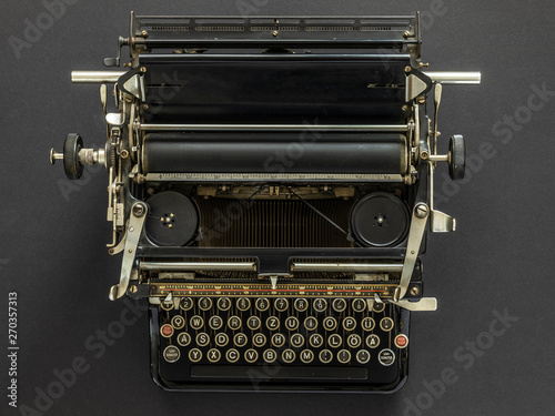 Fotobehang Retro Vintage typewriter retro technology
