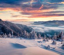 Marvelous Winter Sunrise In Ca...