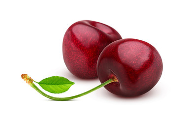 Cherry isolated on white background with clipping path