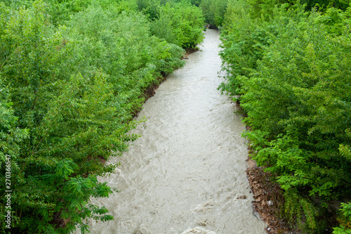 rivers in full climate change streams and rivers Italy Canvas Print