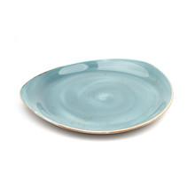 Blue Ceramic Plate Hand Made Design