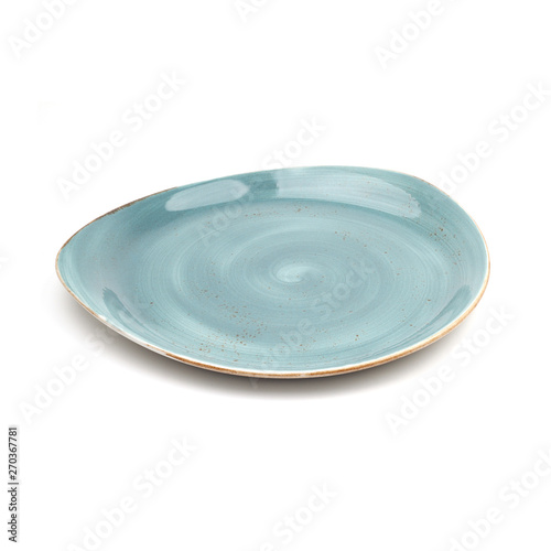 Fotografia blue ceramic plate hand made design