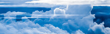 Blue Sky Background, White Clo...