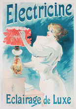 French Poster With Advertisement Of Lightning In The Vintage Book Les Maitres De L'Affiche, By Roger Marx, 1897.