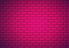 Vector Background Of Pink Bric...