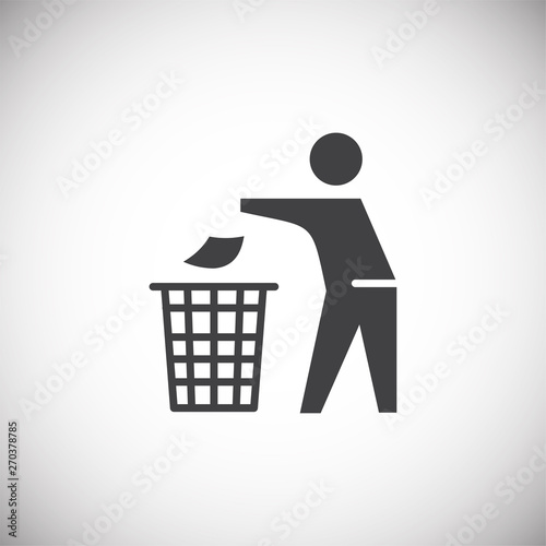 Fototapety, obrazy: Garbage related icon on background for graphic and web design. Simple illustration. Internet concept symbol for website button or mobile app.