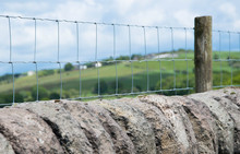 Stone Wall Wire Fence