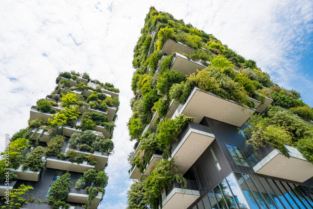 Fototapety, obrazy: Skyscraper named Vertical Forest in Milan