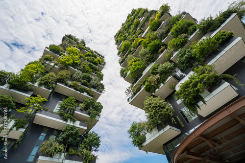 Autocollant pour porte Milan Skyscraper named Vertical Forest in Milan