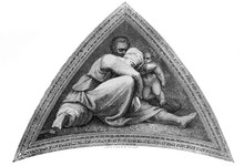 The Fresco From The Sistine Chapel By Michelangelo In The Vintage Book The History Of Arts By Gnedych P.P., 1885