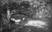 Ophelia By Jean-François Millet In The Vintage Book One Hundred Masterpieces Of Art By O.I. Bulgakov, 1903