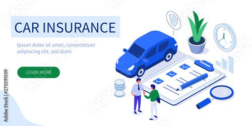 Fototapeta car insurance obraz